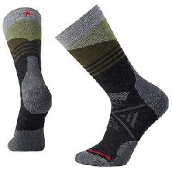 Smartwool PhD Outdoor Medium Pattern Crew Sock Charcoal