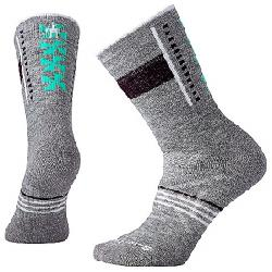 Smartwool Women's PhD Outdoor Medium Pattern Crew Sock Light Grey