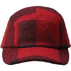 Filson Men's 5 Panel Wool Cap Red / Black Plaid
