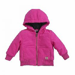 Carhartt Kids' Wildwood Quilted Flannel Lined Jacket Raspberry Rose