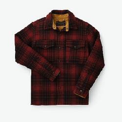 Filson Men's Mackinaw Jac-Shirt Oxblood / Black Plaid
