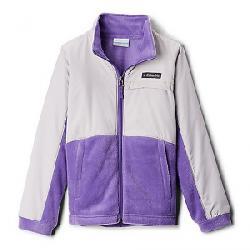 Columbia Youth Girls Benton Springs III Overlay Fleece Jacket Grape Gum/Silver Grey