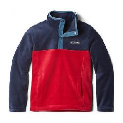 Columbia Youth Steens Mtn1/4 Snap Fleece Pull-Over Mountain Red/Collegiate Navy