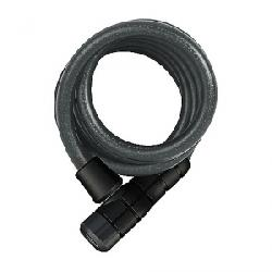Abus 6 Series Keyed Coil Cable Lock Black