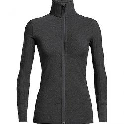 Icebreaker Women's Descender LS Zip Top Jet Heather