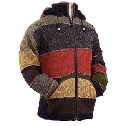 Laundromat Men's Patchwork Fleece Lined Sweater Red