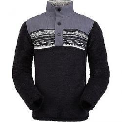 Spyder Men's Wyre Half Zip Snap Fleece Jacket Black