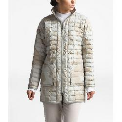 The North Face Women's ThermoBall Eco Long Jacket Dove Grey Oversized Textured Camo Print