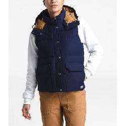The North Face Women's Down Sierra Vest Montague Blue / Cedar Brown