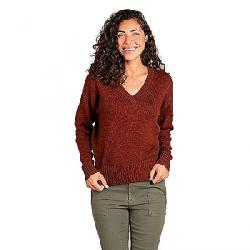 Toad & Co Women's Deerweed V-Neck Sweater Paprika