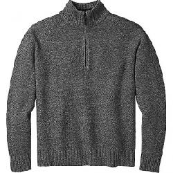 Smartwool Men's Ripple Ridge Half Zip Sweater Light Gray Heather / Charcoal Heather