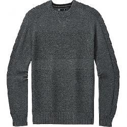 Smartwool Men's Ripple Ridge Crew Sweater Lunar Grey Heather / Charcoal Heather