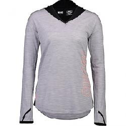 Mons Royale Women's MTN x Hood LS Top Black / Grey Marl