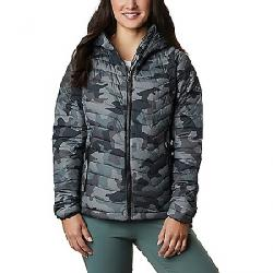 Columbia Women's Powder Lite Hooded Jacket Black Traditional Camo Print