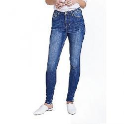 dish Women's Performance Denim High Rise Skinny Jean Heritage Blue