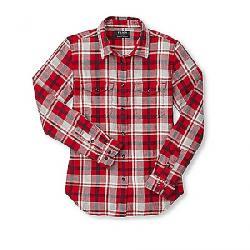 Filson Women's Scout Shirt Red / Heather Gray