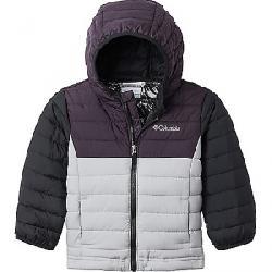 Columbia Toddlers' Boys Powder Lite Hooded Jacket Columbia Grey / Dark Purple / Black