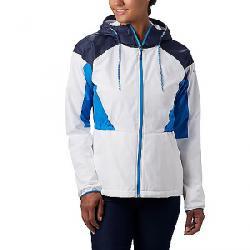 Columbia Women's Side Hill Lined Windbreaker Jacket White/Nocturnal/Static Blue