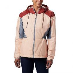 Columbia Women's Side Hill Lined Windbreaker Jacket Peach Cloud/Dusty Crimson/Trdwnd Grey