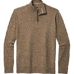 Smartwool Men's Sparwood Half Zip Sweater Camel Heather / Military Olive Heather