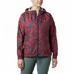 Columbia Women's Flash Forward Printed Windbreaker Jacket Nocturnal Wispy Bamboo