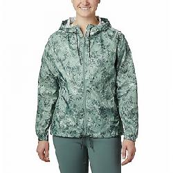 Columbia Women's Flash Forward Printed Windbreaker Jacket Light Lichen Rubbed Texture