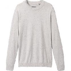 Prana Men's Driggs Crew Sweater - Slim Light Grey Heather