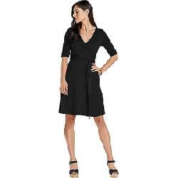 Toad & Co Women's Cue Wrap CafT Dress Black