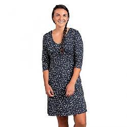 Toad & Co Women's Rosalinda Dress True Navy Daisy Chain Print