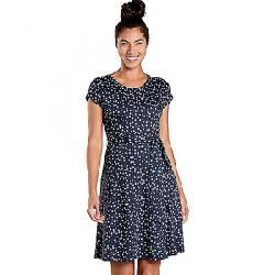 Toad & Co Women's Cue Wrap SS Dress True Navy Daisy Chain Print
