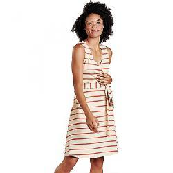 Toad & Co Women's Cue Wrap SL Dress Desert Wide Stripe
