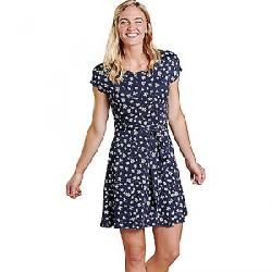 Toad & Co Women's Cue Wrap SS Dress True Navy Tossed Floral Print