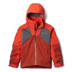 Columbia Boys' Rain Scape Jacket Wildfire/Carnelian Red/City Grey