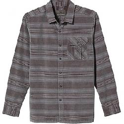 Royal Robbins Men's Covert Cord Organic Cotton Stripe LS Light Pewter