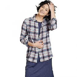 Toad & Co Women's Re-Form Flannel Shirt Flint Stone