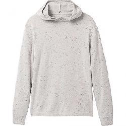 Prana Men's Driggs Hood Sweater - Slim Light Grey Heather