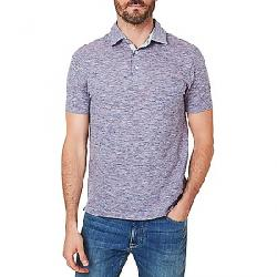 Faherty Men's Heather Striped SS Polo Blue Rose Stripe