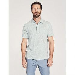 Faherty Men's Heather SS Polo Pedlow Green