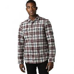 Prana Men's Wedgemont Flannel Shirt-Slim Light Grey Heather