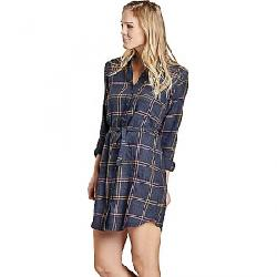 Toad & Co Women's Re-Form Flannel Shirtdress True Navy