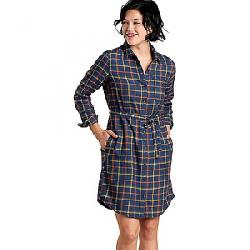 Toad & Co Women's Re-Form Flannel Shirt Dress Big Sky