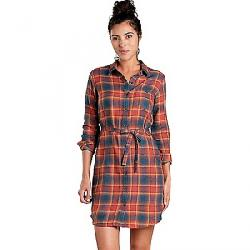 Toad & Co Women's Re-Form Flannel Shirt Dress Auburn