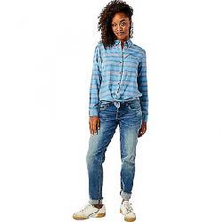 Carve Designs Women's Perry Button Down Shirt Lake Stripe