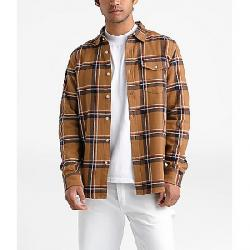 The North Face Men's Arroyo Flannel LS Shirt Cedar Brown Gully Plaid
