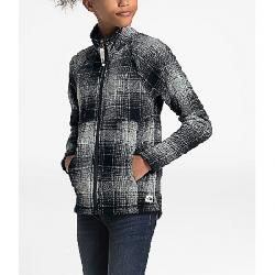 The North Face Girls' Crescent Full Zip Sweater High Rise Grey Ombre Plaid Small Print