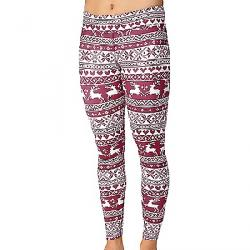 Hot Chillys Women's Micro-Elite Chamois Sublimated Print Tight Santa Baby