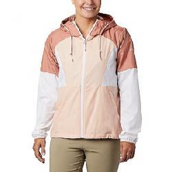 Columbia Women's Side Hill Windbreaker Jacket Peach Cloud/White/Cedar Blush