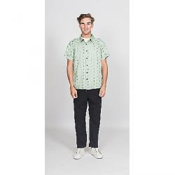Roamers Men's Marin SS Shirt Seafoam with Olive