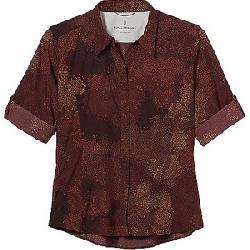 Royal Robbins Women's Expedition Print 3/4 Sleeve Shirt Fudge Print