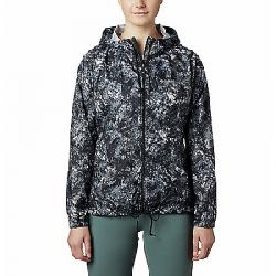 Columbia Women's Flash Forward Printed Windbreaker Jacket Black Rubbed Texture